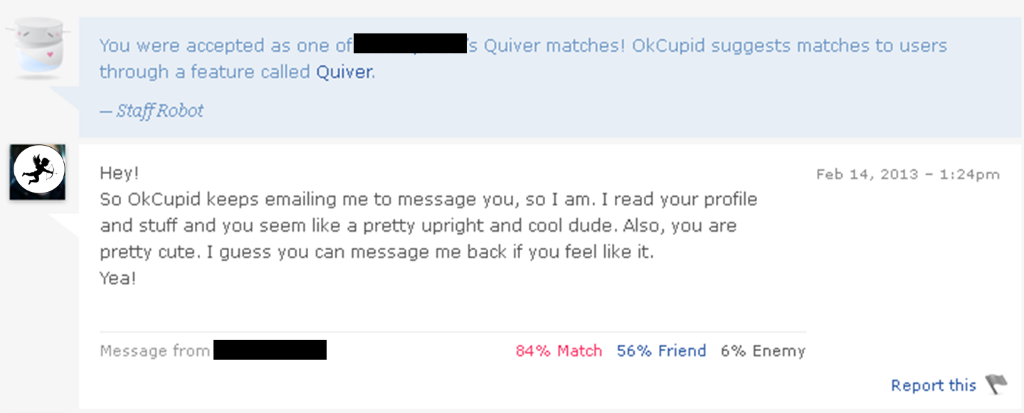 first emails on dating sites